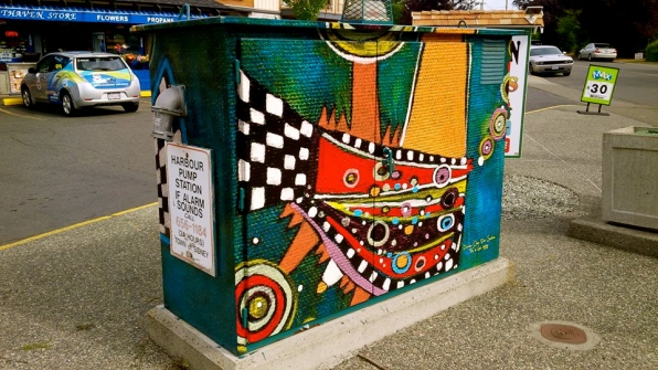 Artwork featured on a utility box in Sidney B.C.